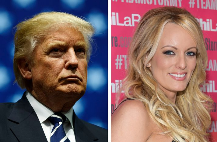 Donald Trump og Stormy Daniels.