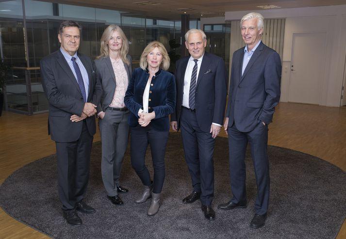 Stjórn Advania AB frá vinstri; Vesa Suurmunne, Katrín Olga Jóhannesdóttir, Birgitta Stymne Göransson, Thomas Ivarson og Bengt Engström.