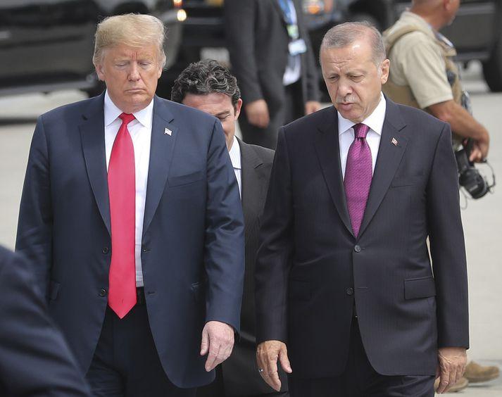 Trump og Erdogan á leiðtogafundi Atlantshafsbandalagsins í fyrra.