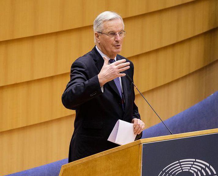 Michel Barnier, aðalsamningamaður Evrópusambandsins, sagði leiðina að samningi þrönga.