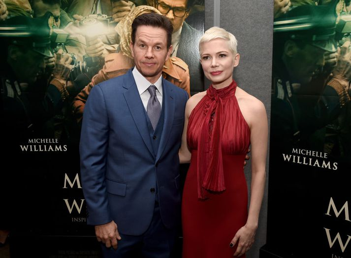 Mark Wahlberg og Michelle Williams saman á frumsýningu myndarinnar.