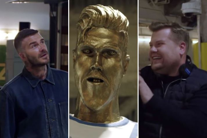 Corden og Beckham þekkjast vel.