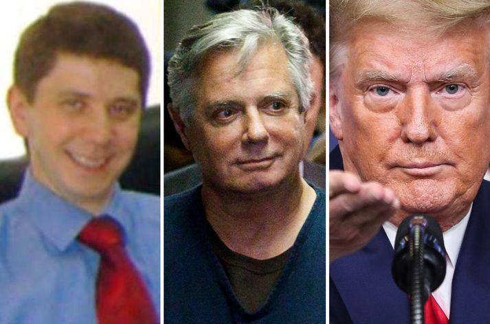 Konstantin Kilimnik, Paul Manafort og Donald Trump.