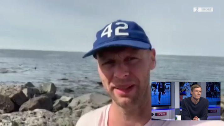 Ólafur Stefánsson sendi fyrrum kollega sínum úr landsliðinu góðar kveðjur.