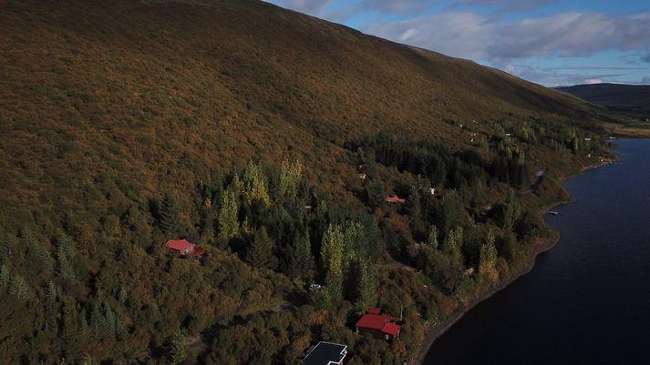 Óvissustig almannavarna var lýst yfir í Skorradal í júní vegna langvarandi þurrka.