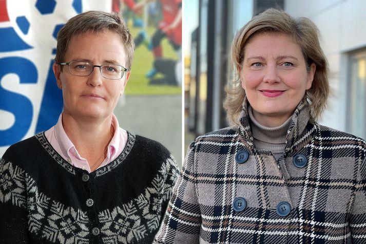 Klara Bjartmarz framkvæmdastjóri KSÍ og Kristrún Heimisdóttir lögfræðingur.