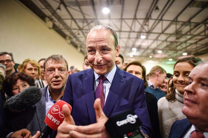 Hinn 59 ára Micheál Martin hefur gegnt embætti formanns Fianna Fáil frá árinu 2011.