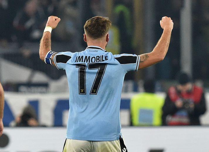 Immobile jafnaði metin fyrir Lazio í kvöld.