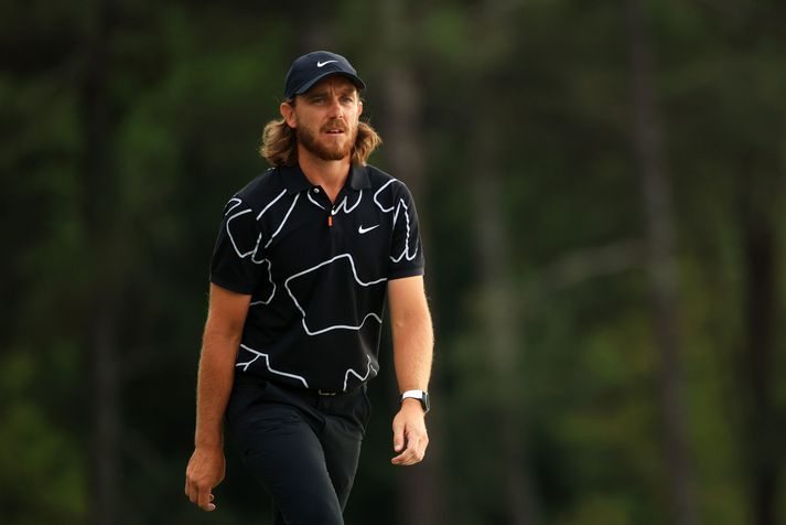 The Masters - Round One AUGUSTA, GEORGIA - APRIL 08: Tommy Fleetwood of England walks to the on the 18th green during the first round of the Masters at Augusta National Golf Club on April 08, 2021 in Augusta, Georgia. (Photo by Mike Ehrmann/Getty Images)