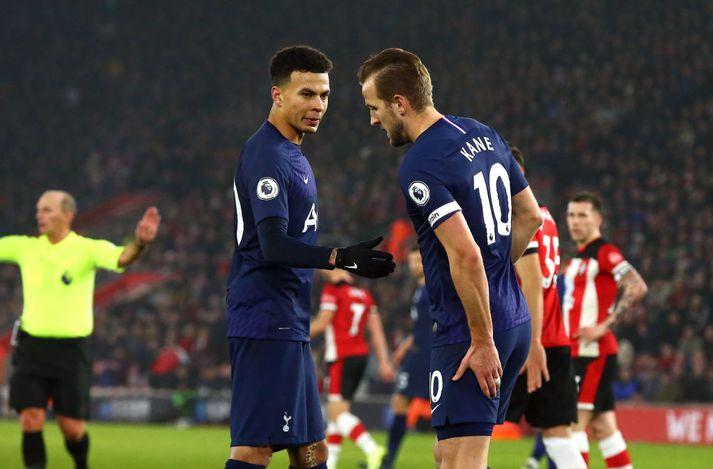 Kane fer af velli gegn Southampton á nýársdag.
