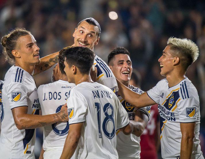 Zlatan Ibrahimović skoraði ófá mörkin fyrir Los Angeles Galaxy.