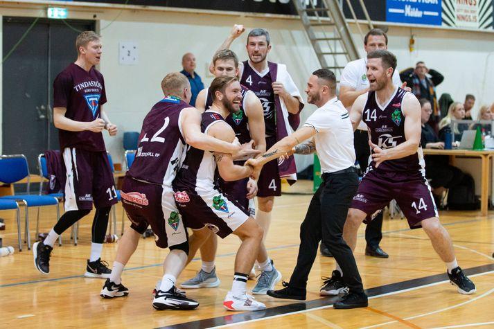 Sigtryggur Arnar Björnsson skoraði sigurkörfu Tindastóls gegn KR.