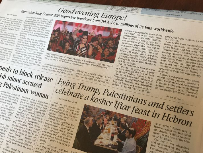 Good evening Europe! er fyrirsögnin á forsíðugrein The Jerusalem Post.