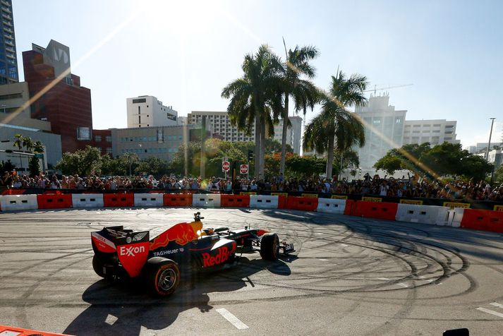 Red Bull tók þátt í Formúlu 1 sýningu í Miami í fyrra.