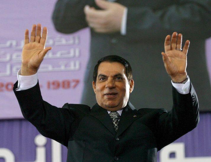 Ben Ali var hrakinn frá völdum í byltingunni árið 2011 sem markaði upphaf Arabíska vorsins svokallaða.