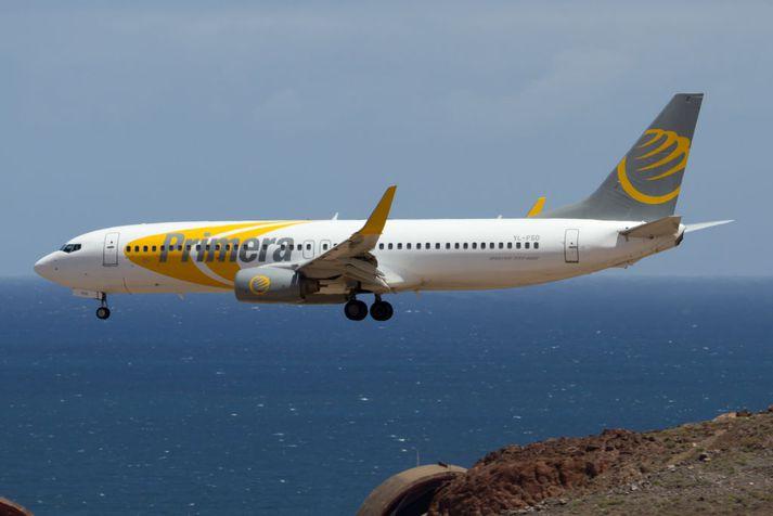 Flugvél flugfélagsins Primera Air.