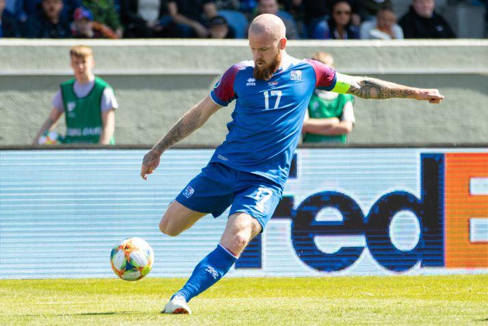 Aron Einar missti af síðustu leikjum í undankeppni EM 2020 vegna meiðsla.