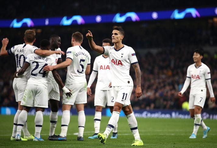 Lamela fór mikinn er Tottenham vann sinn fyrsta leik í Meistaradeildinni á tímabilinu