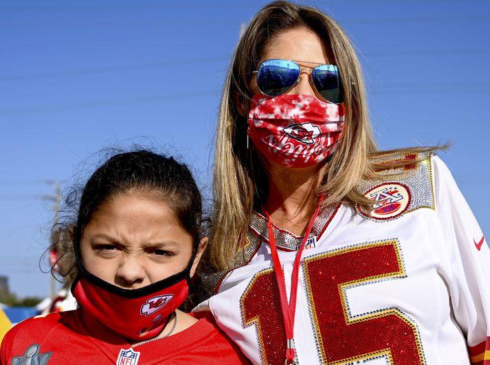 Randi Mahomes hafði eitt og annað við dómgæsluna í Super Bowl að athuga.