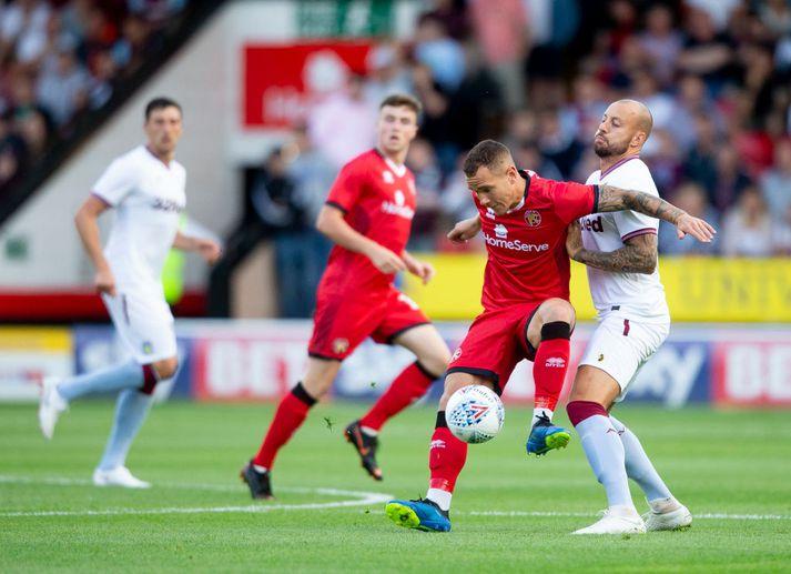 Walsall í leik gegn Aston Villa á síðustu leiktíð.