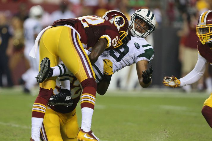 Frá leik Washington Redskins og New York Jets.