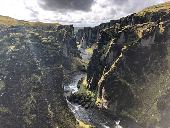 Frá Fjaðrárgljúfri.