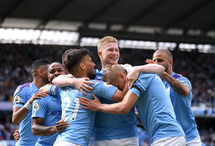 Manchester City fagna marki.