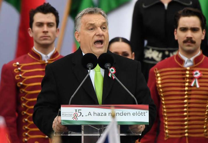 Viktor Orbán er vinsæll í Ungverjalandi. Flokkur hans, Fidesz, mælist með langmest fylgi.