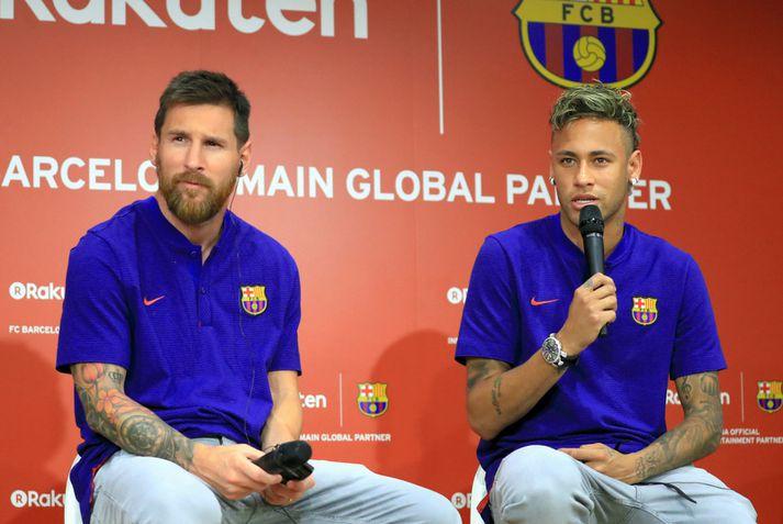 Lionel Messi og Neymar.
