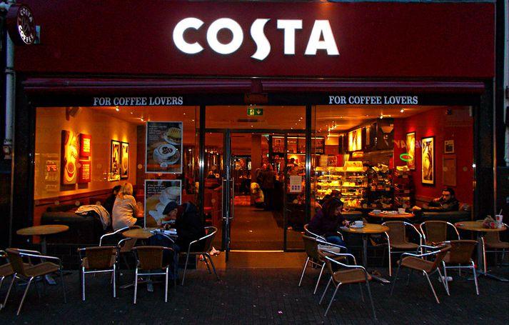 Costa, stærsta kaffihúsakeðja Bretlands, rekur um 3.800 kaffihús í 32 löndum.