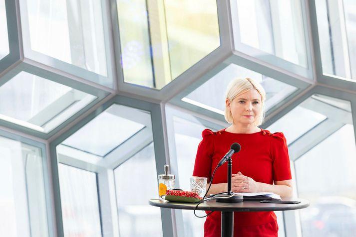 Lilja Alfreðsdóttir, mennta- og menningamálaráðherra.