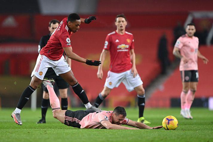 Anthony Martial átti ekki góðan leik gegn Sheffield United.