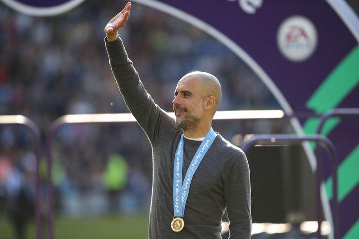 Pep Guardiola varði Englandsmeistaratitilinn með Manchester City á dögunum