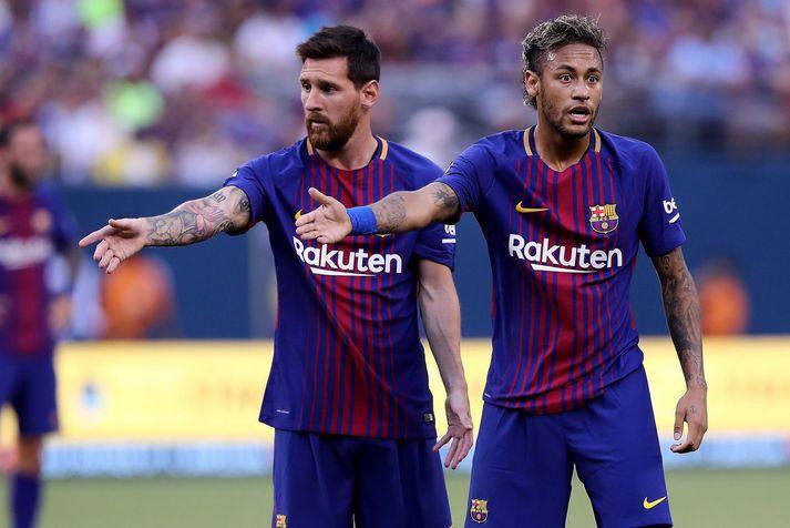 Lionel Messi og Neyma voru frábærir saman hjá Barcelona liðinu.