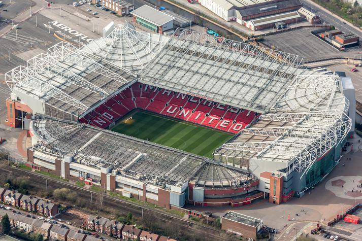 Old Trafford, heimavöllur Manchester United í 110 ár.