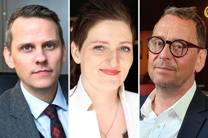 Magnús Geir Þórðarson, Kristín Eysteinsdóttir og Ari Matthíasson munu berjast um starf Þjóðleikhússtjóra.