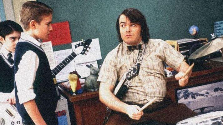 Kevin Clark og Jack Black í kvikmyndinni School of Rock frá árinu 2003.