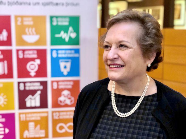 Susanna Moorehead, formaður þróunarsamvinnunefndar Efnahags- og framfarastofnunarinnar (OECD).