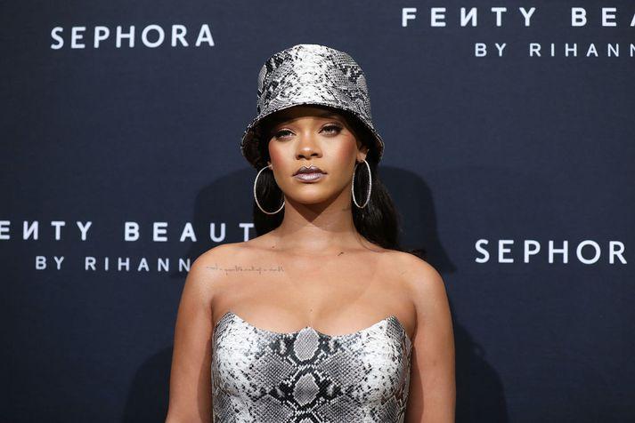Rihanna á afmælishátíð Fenty Beauty.
