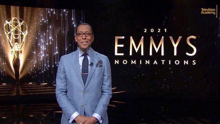 Leikarinn Ron Cephas Jones var einn þeirra sem kynnti tilnefningar til Emmy verðlaunanna í ár.