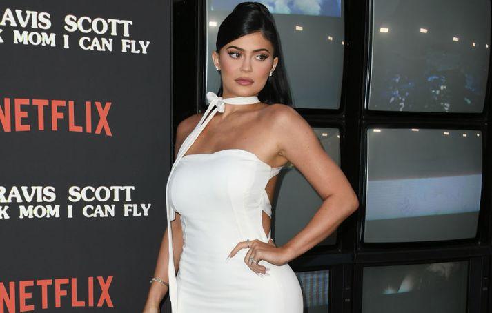 Kylie Jenner á frumsýningu á kvikmynd um Travis Scott á dögunum.