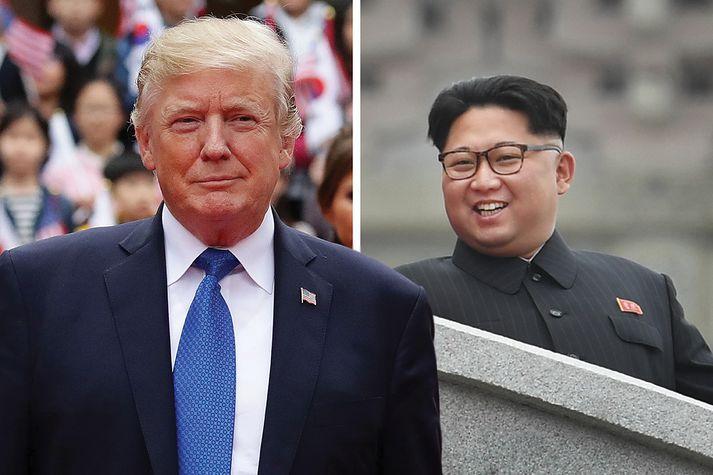 Donald Trump og Kim Jong-un hafa talað í fyrirsögnum um hvorn annan undanfarna mánuði.