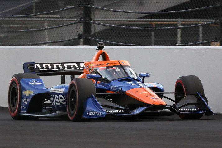 Felix Rosenqvist frá Svíþjóð, ekur #7 Arrow McLaren SP Chevrolet, bíl sínum.
