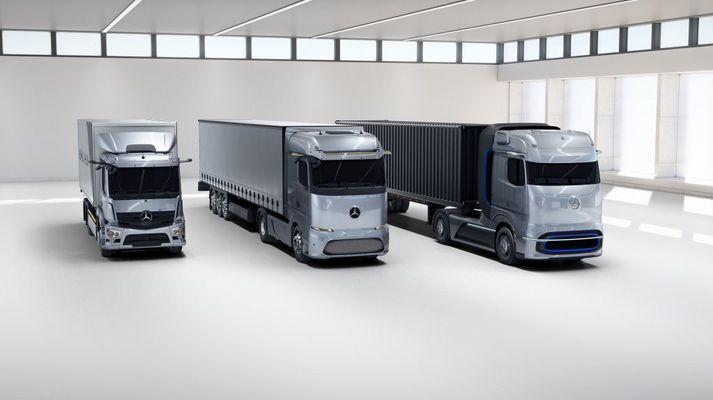 Mercedes-Benz eActros, Mercedes-Benz eActros LongHaul og Mercedes-Benz GenH2.