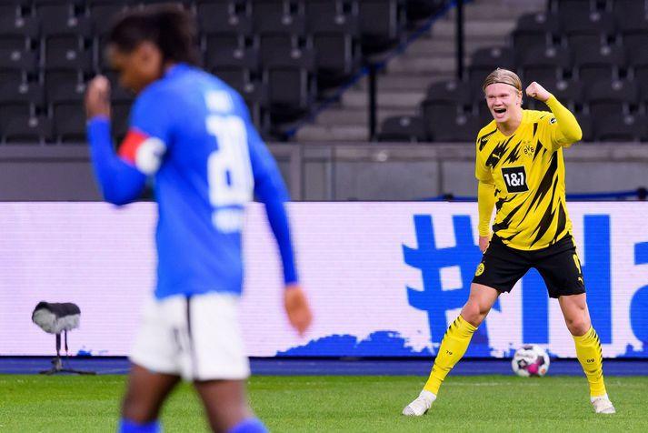 Erling Braut Haaland hefur raðað inn mörkum með liði Borussia Dortmund.