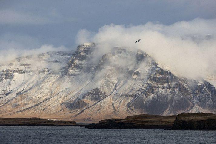 Vestast á landinu verður suðaustan kaldi eða strekkingur með slyddu af og til.