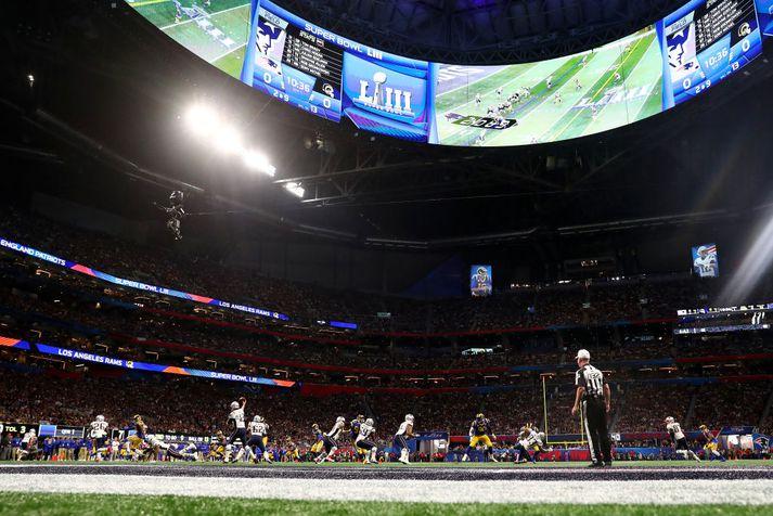 Úr Super Bowl-leiknum.
