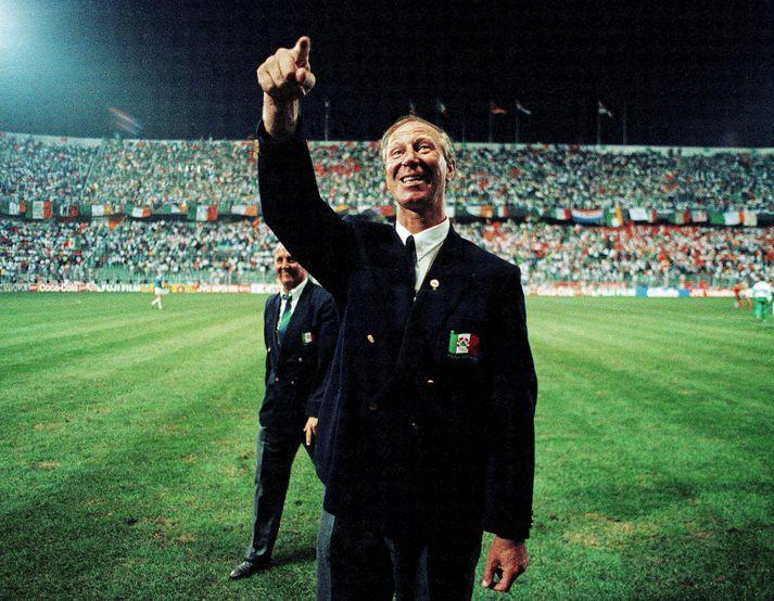 Jack Charlton á HM 1990 sem fram fór á Ítalíu.
