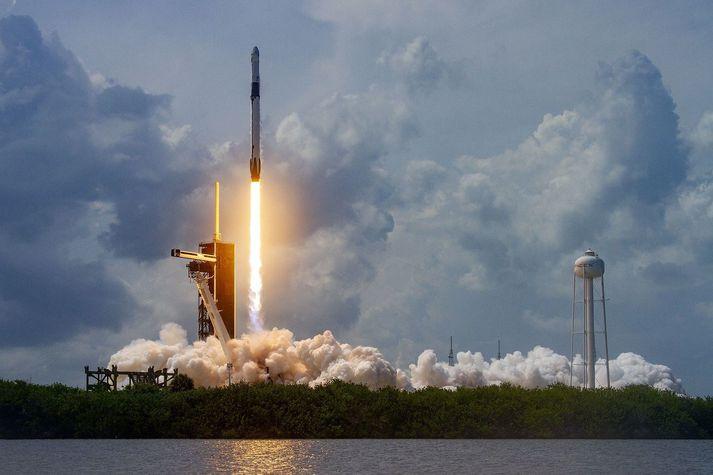 Frá fyrsta mannaða geimskoti SpaceX í maí.
