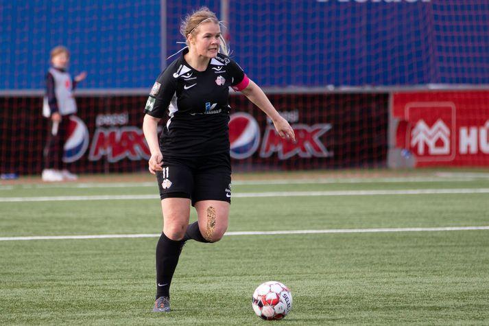 Arna Sif Ásgrímsdóttir og stöllur í Þór/KA urðu í 4. sæti Pepsi Max-deildarinnar í fyrra.